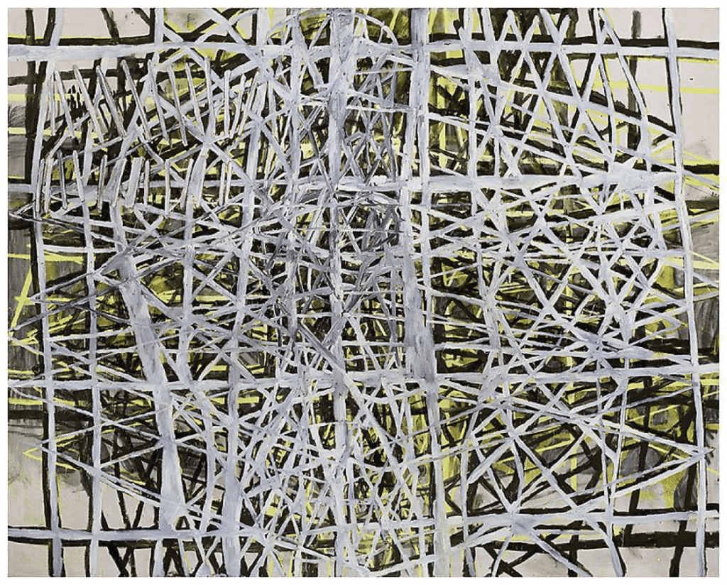 Terry Winters, Parallel Rendering 2, 1996, oil, alkyd resin on linen, 96 X 120 inches (Courtesy Matthew Marks Gallery)