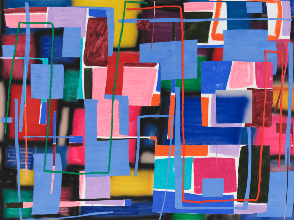 """Trudy Benson, Bashful, oil and acrylic on canvas, 66"""" x 88"""", 2018 Image courtesy of the artist"""
