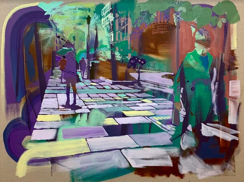 """""""Vanishing Point"""", 2018, oil on linen, 36"""" x 48"""". Image courtesy of the artist"""