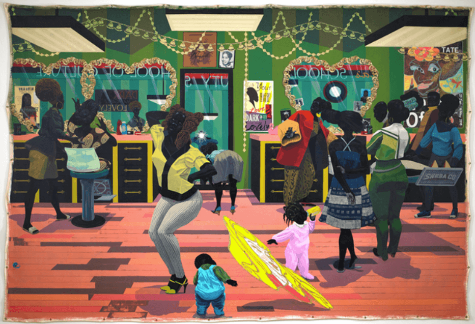 Kerry James Marshall School of Beauty, School of Culture, 2012 Acrylic on Canvas 107 7/8 × 157 7/8 in