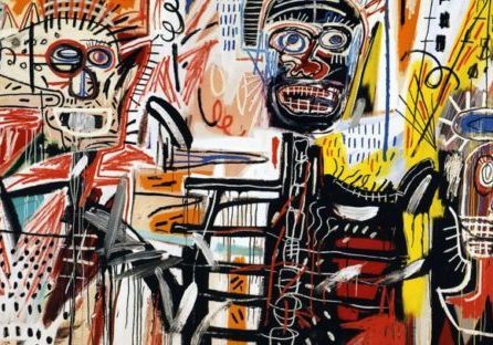 Image Credit: Philistines – 1982 Jean Michel Basquiat Acrylic, crayon on canvas, 183 x 312.5 cm