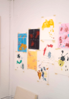 Studio wall- Image courtesy of the artist.
