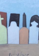 """""""Cemetery Still Life, 1956"""" oil on canvas 2018 18""""x24"""""""