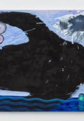 "Splash, 2018 24"" x 30"" Acrylic, charcoal on canvas."