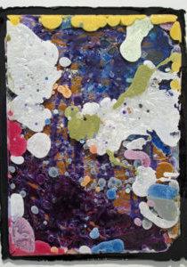 Push Fat 1 (in Purple Bath), 2014 urethane resin 25.5 x 19.25 inches